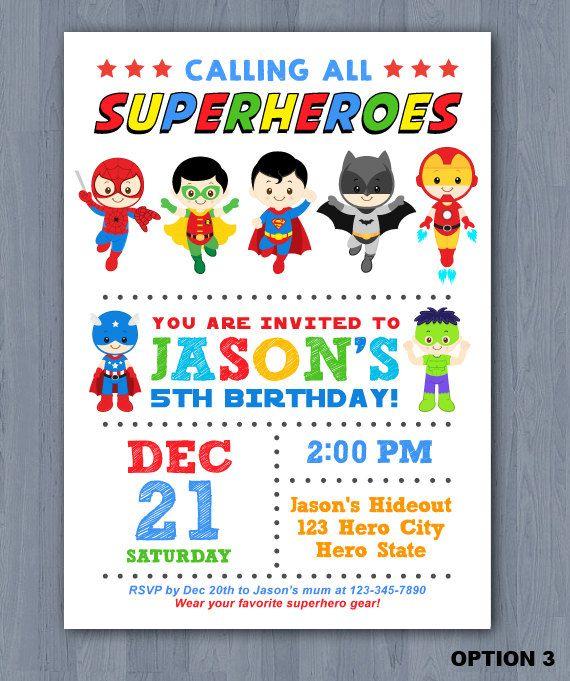 superhero birthday invitation superhero boy invitation superhero