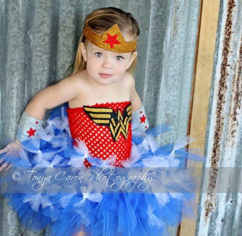 Items similar to Wonder Woman Costume Super Hero Costume Halloween Tutu Dress 12 Months to 2 Toddler on Etsy  sc 1 st  Pinterest & Wonder Woman Inspired Child Costume Supehero Halloween Costume ...