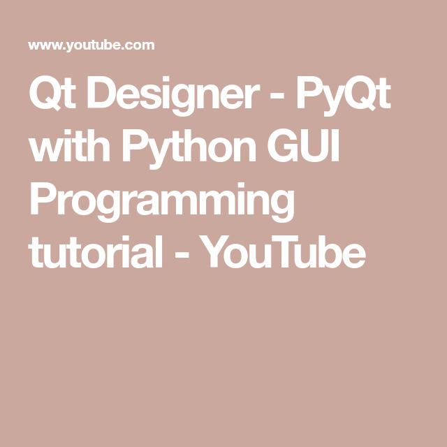 Qt designer tutorials
