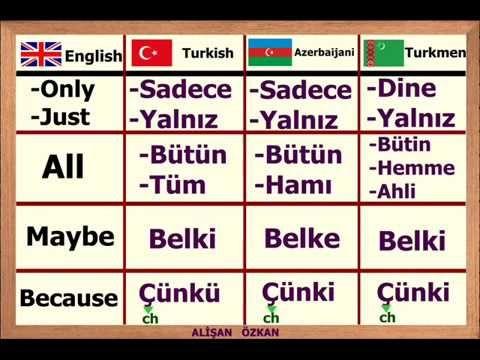 Learn Turkic Languages Turkish Azerbaijani Kazakh Uzbek Turkmen Uyghur Kyrgyz Youtube Azerice Egitim Teknolojisi Turk Dilleri