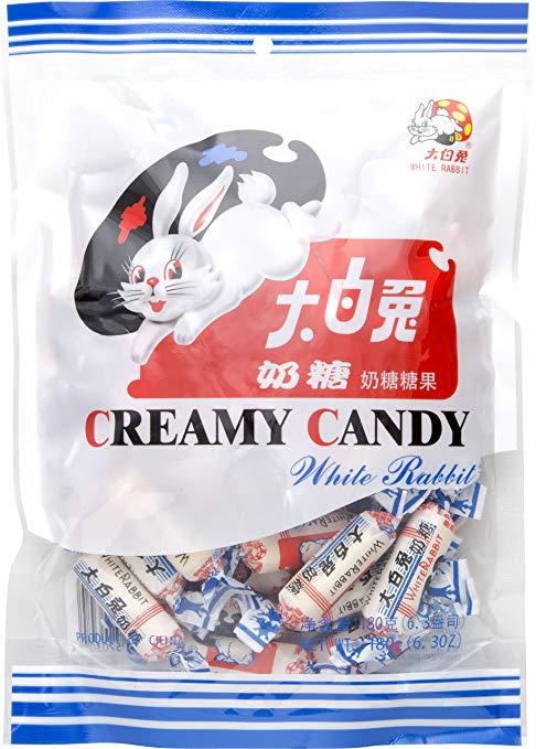Amazon Com White Rabbit Creamy Candy 6 3 Oz Pack Of 6 Creamy Rabbit Candy