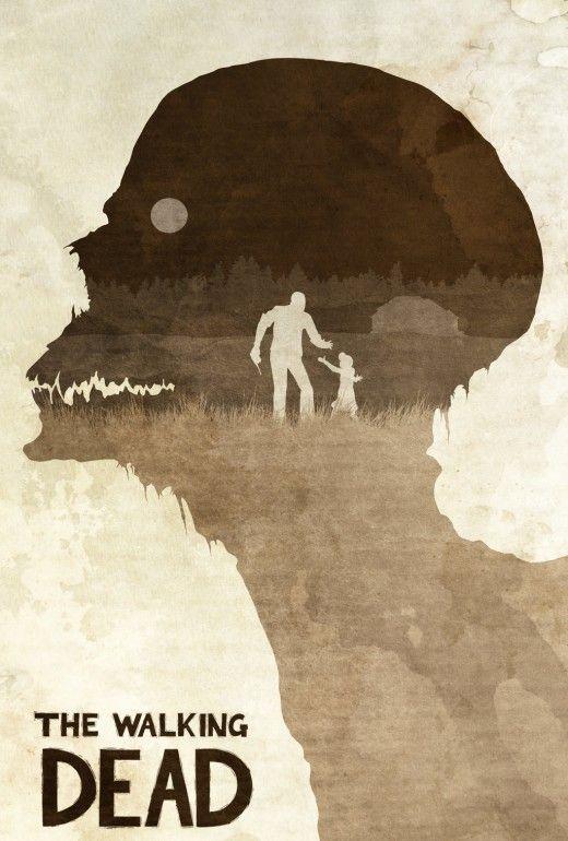 Fan Art Tv Posters From Breaking Bad To Mad Men Nextdayflyers The Walking Dead Poster Walking Dead Art The Walking Dead Telltale