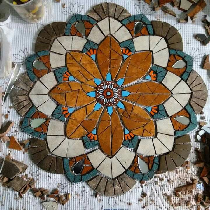 Liven Your Walls Paintings Tierra Este: Mandala Colores Tierra