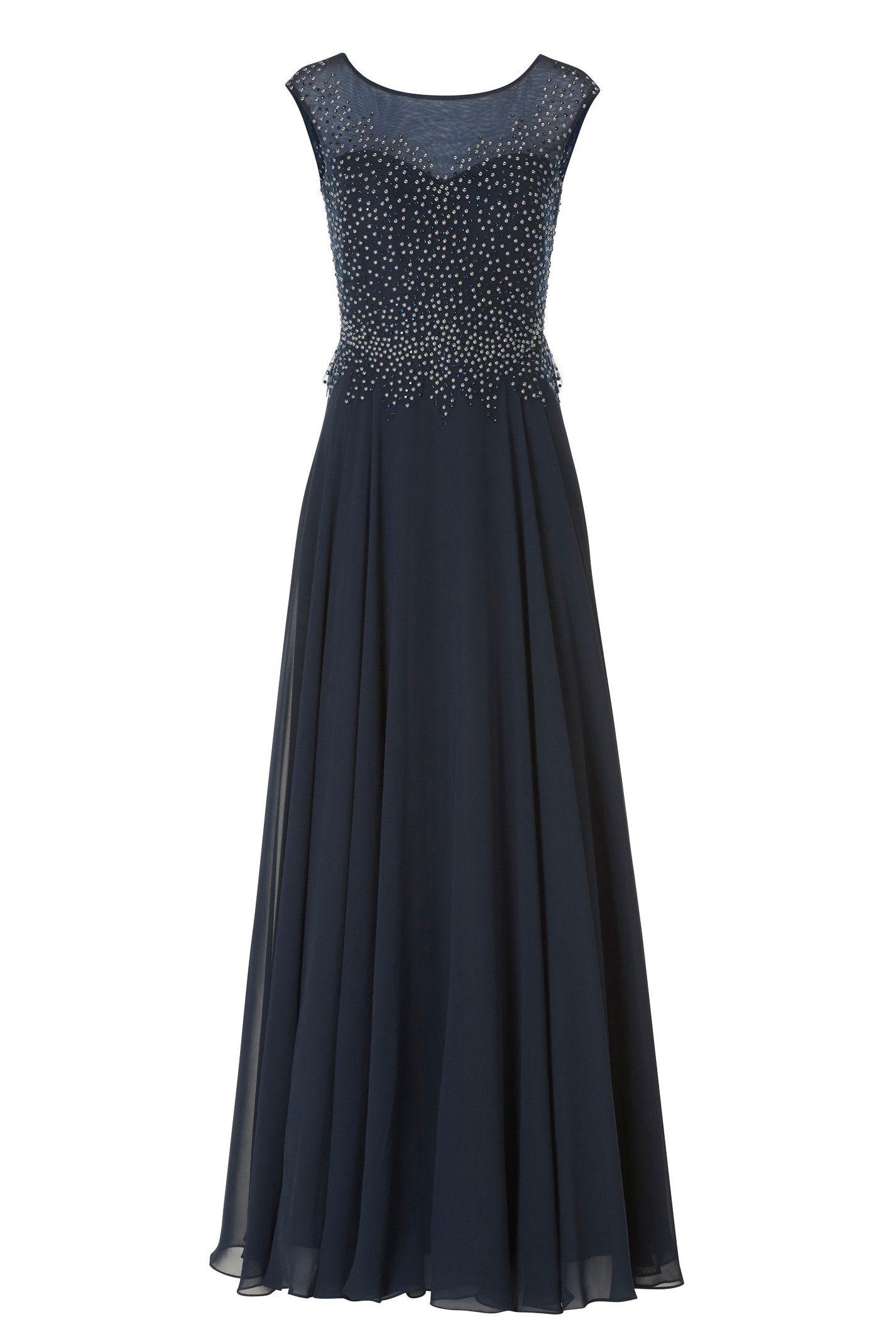 Langes Abendkleid mit Perlen  Lange kleider, Abendkleid, Kleider