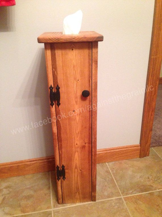 Handcrafted Wooden Toilet Paper Holder With Tissue Dispenser Storage It Is Made Of Solid Pine And Embled S Has A Hinged Door