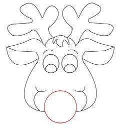 Rudolph Reindeer Face Craft For Coloring Responses On Rudolph Picture For Christmas C Christmas Ornament Template Christmas Stencils Felt Christmas Ornaments