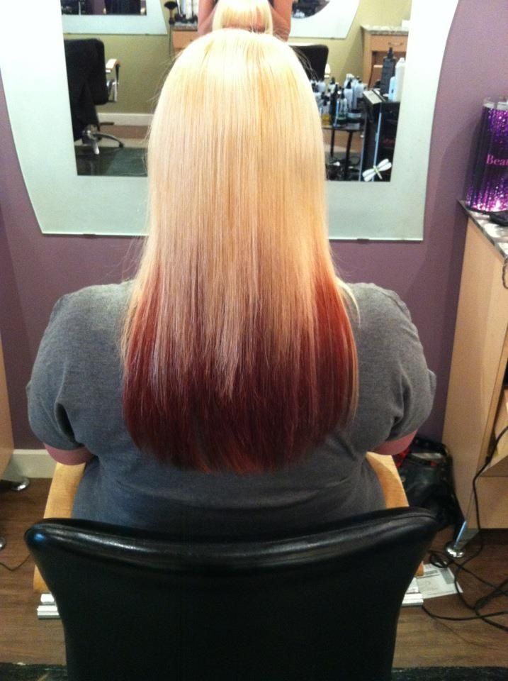 Maybe My Next Hair Color Blonde Hair With Red Underneath Right Now