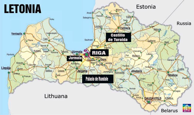 Letonia Mapa Buscar Con Google Letonia Paises Balticos