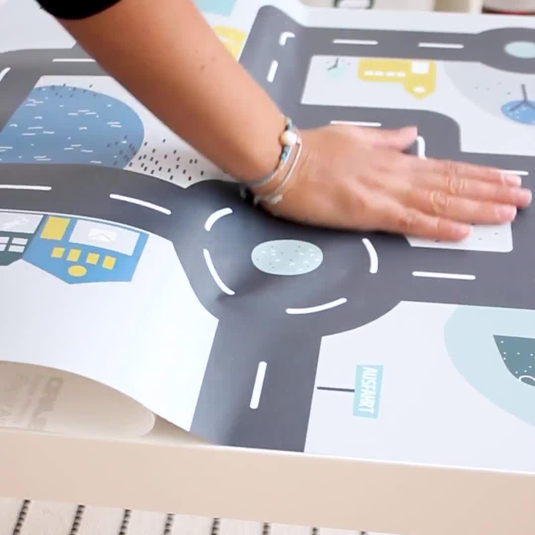 """Photo of Möbelfolie """"Småstad"""" für IKEA LACK Beistelltisch 55×55 cm"""