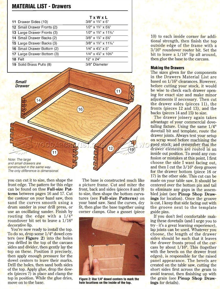 1589 Heirloom Jewelry Box Plans Woodworking Plans Projekty do
