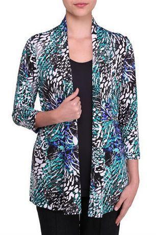 Walmart, Alia Women's 3/4 Sleeve Cardigan Fooler, Blue or Aqua