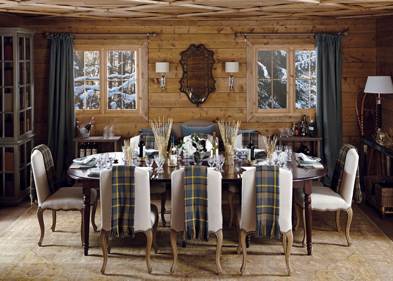 Hard Day Slopes Inviting Dining Room