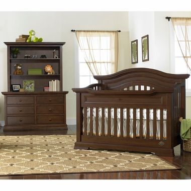 Bonavita Belmont Lifestyle 4 In 1 Convertible Crib In Dark Walnut
