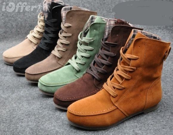 Leisure women girls flat short boots Martin boots