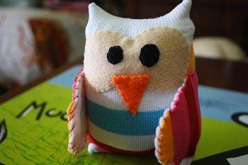Sock Owl Chouette Doudou Creatif