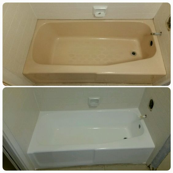 Have A Terribly Yellow Fiberglass Tub Check Out How To Change That Aged Yellow Into A Br Mobile Home Makeovers Mobile Home Renovations Remodeling Mobile Homes