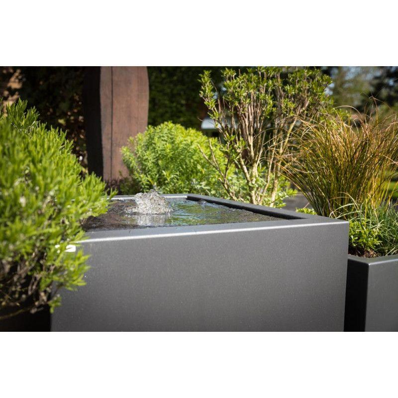 Gartensilber Aluminium Quader Pflanzkübel 90 × 40 cm (mit