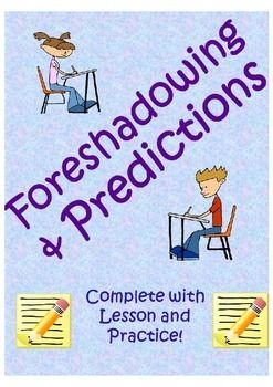 This resource includes practice on making predictions and identifying foreshadowing in writing. Students are prompted to make a prediction and identify the foreshadowing that generated the prediction. The resource also includes guided notes on foreshadowing as well as tips on how to add foreshadowing to your writing. There is also a quiz at the end of the worksheet!