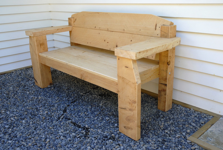 Chunky Macrocarpa Bench