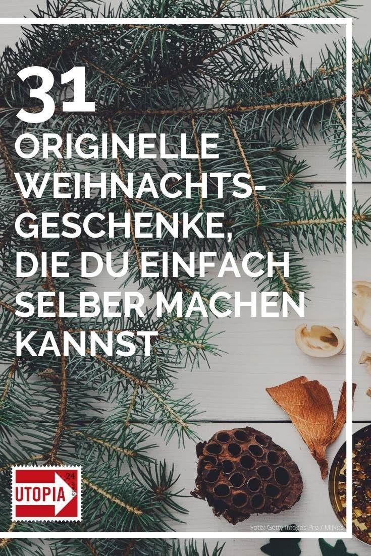 Weihnachtsgeschenke selber machen – 32 einfache und kreative Ideen