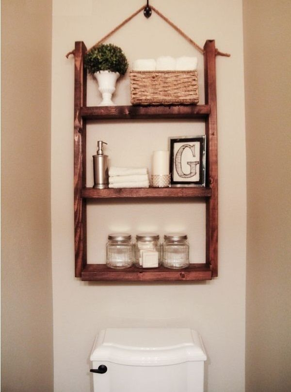15 Diy Space Saving Bathroom Shelving Ideas Wooden Bathroom Shelves Hanging Bathroom Shelves Diy Space Saving