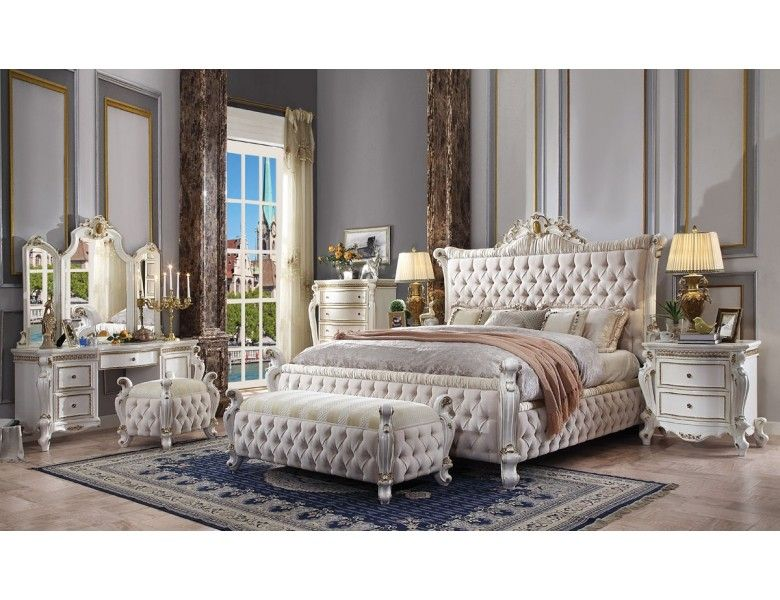 Wynn Victorian Style Bedroom Furniture Upholstered Bedroom Set Traditional Bedroom Furniture Furniture