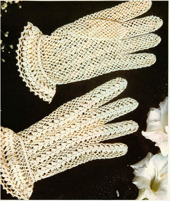 Crochet Gloves Pattern Crochet Lace Gloves Pattern Vintage Crochet ...