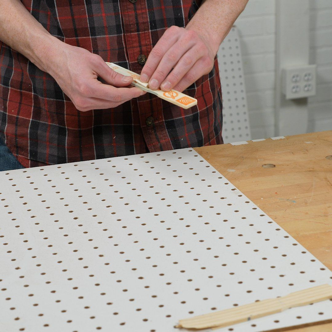 saturday morning workshop: how to build a sliding pegboard