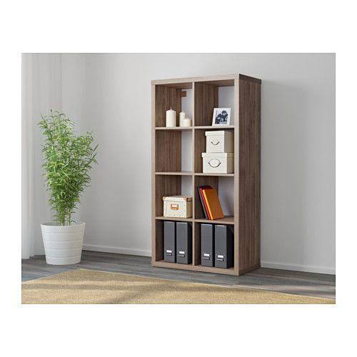 Ikea Walnut Shelves: KALLAX Shelf Unit, Walnut Effect Light Gray