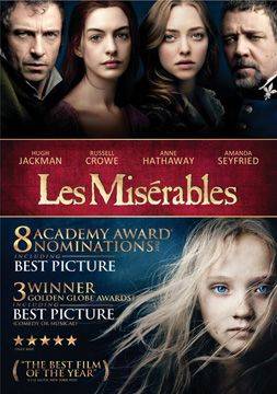 Les Miserables Dvd Rated Pg 13 158 Mins Extras Les Miserables Les Miserables 2012 Les Miserables Dvd