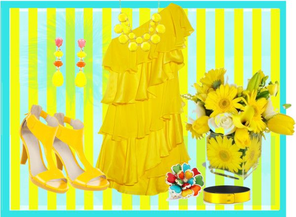 """""""Yellow"""" by jenn7375 ❤ liked on Polyvore"""