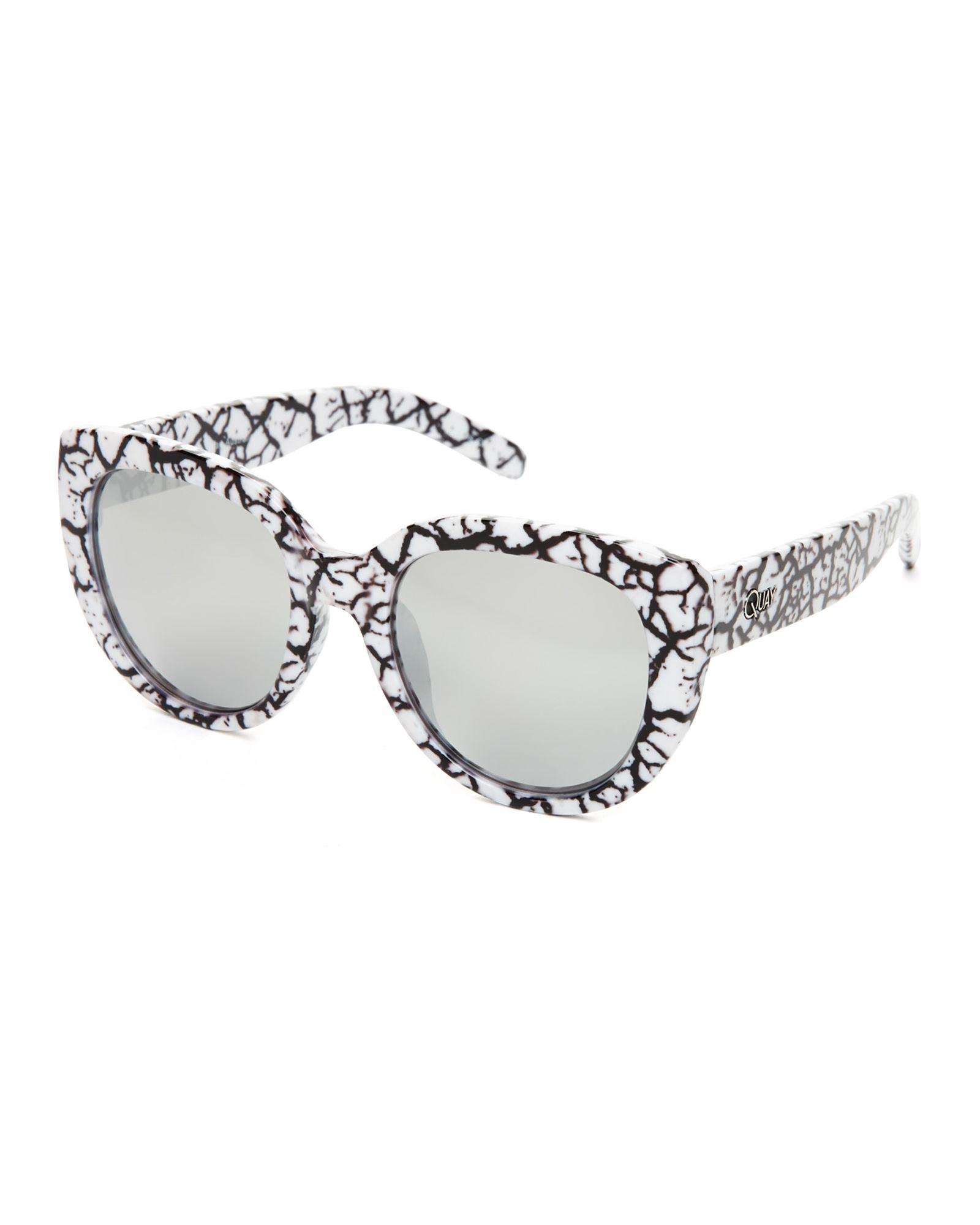 de3db838ad Quay Australia White Marble St Capri Cat Eye Sunglasses