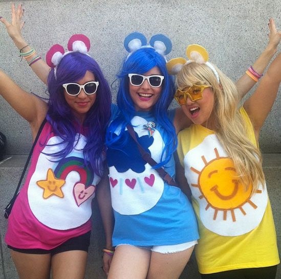 Ideas u0026 Accessories for your DIY Care Bears Halloween Group Costume Idea  sc 1 st  Pinterest & DIY Care Bears Costume