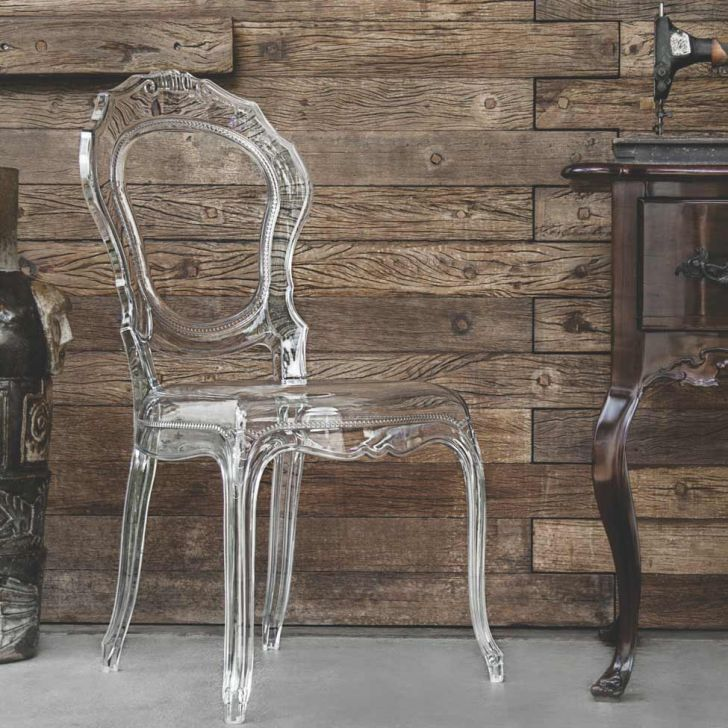 Cadeira Belle Epoque Transparente Tramontina Cadeiras E