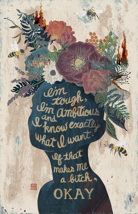 Yohey Horishita - Tell'Em - Typographic poster of a feminist quote by Madonna