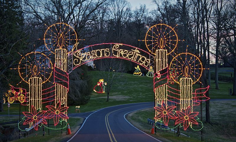 CHRISTMAS in NORTH CAROLINA Tanglewood Festival of Lights