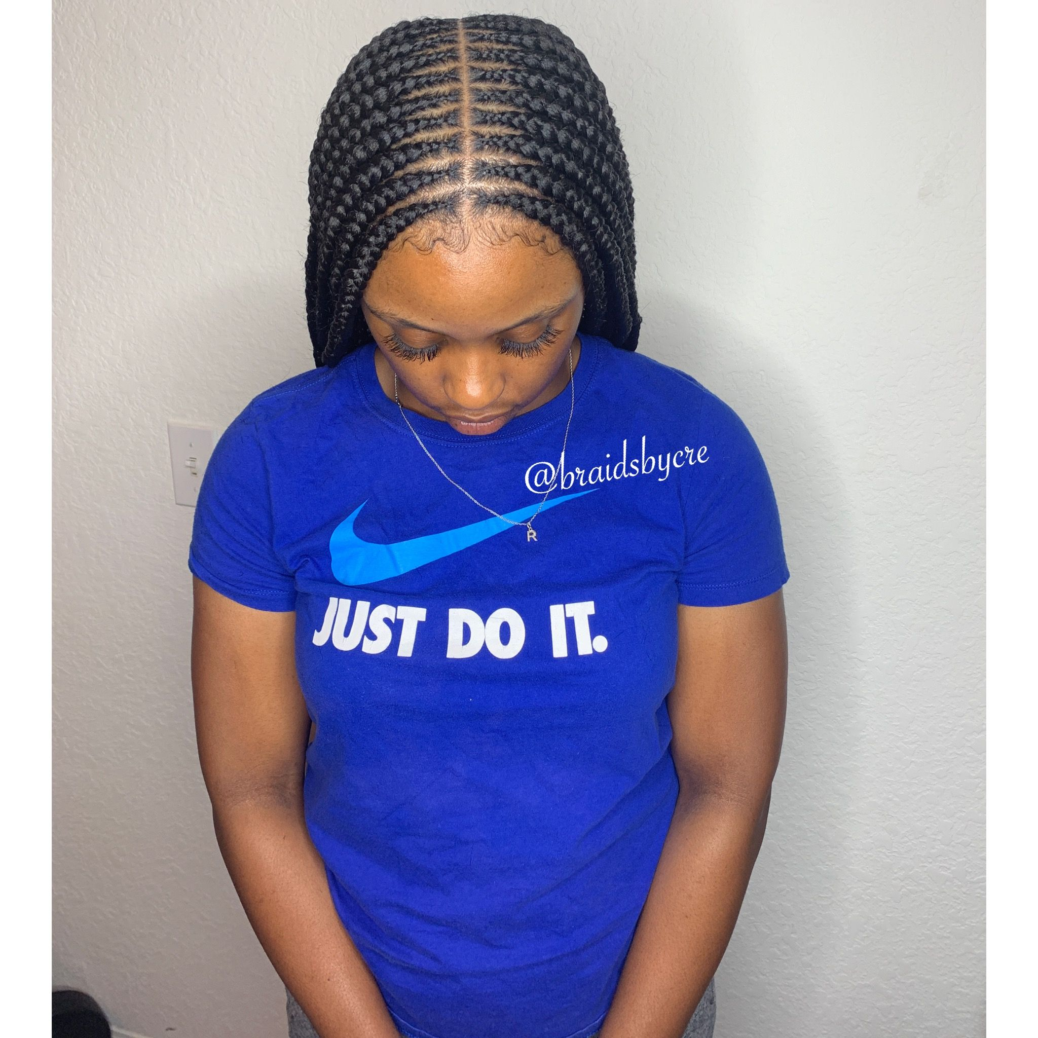 Medium 2 Layer Feed In Braids With Images Feed In
