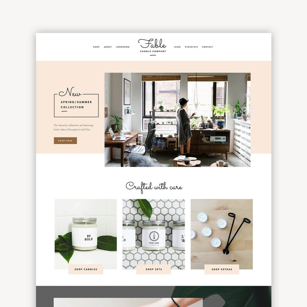 Fable squarespace kit website themes blogger themes and for Best squarespace template for blog