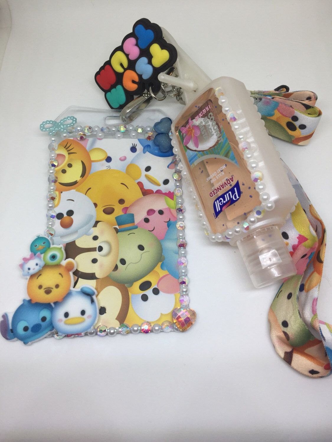 Tsum Tsum Inspired Badge Id Holder Lanyard Hand Sanitizer