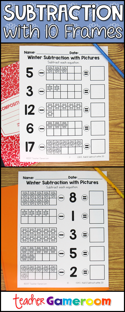 Adding and Subtracting with Pictures Worksheets 1.OA.5 | Pinterest ...