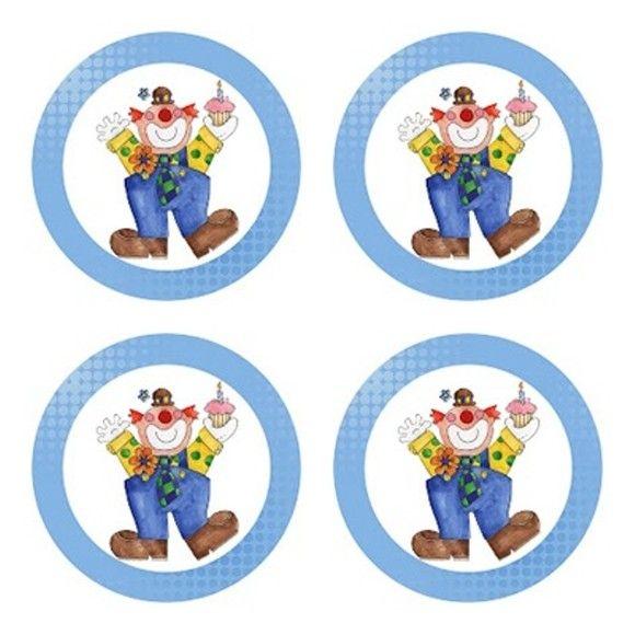 Latinha mint to be com adesivo tema Palhaço Azul - Circo.  Tamanho da latinha: 5cm de diâmetro por 1cm de altura. Cor da latinha: prateada. Impressão à lazer.  Acompanha embalagem e tag. R$1,50    Compre em www.boutiquedeencantos.elo7.com.br