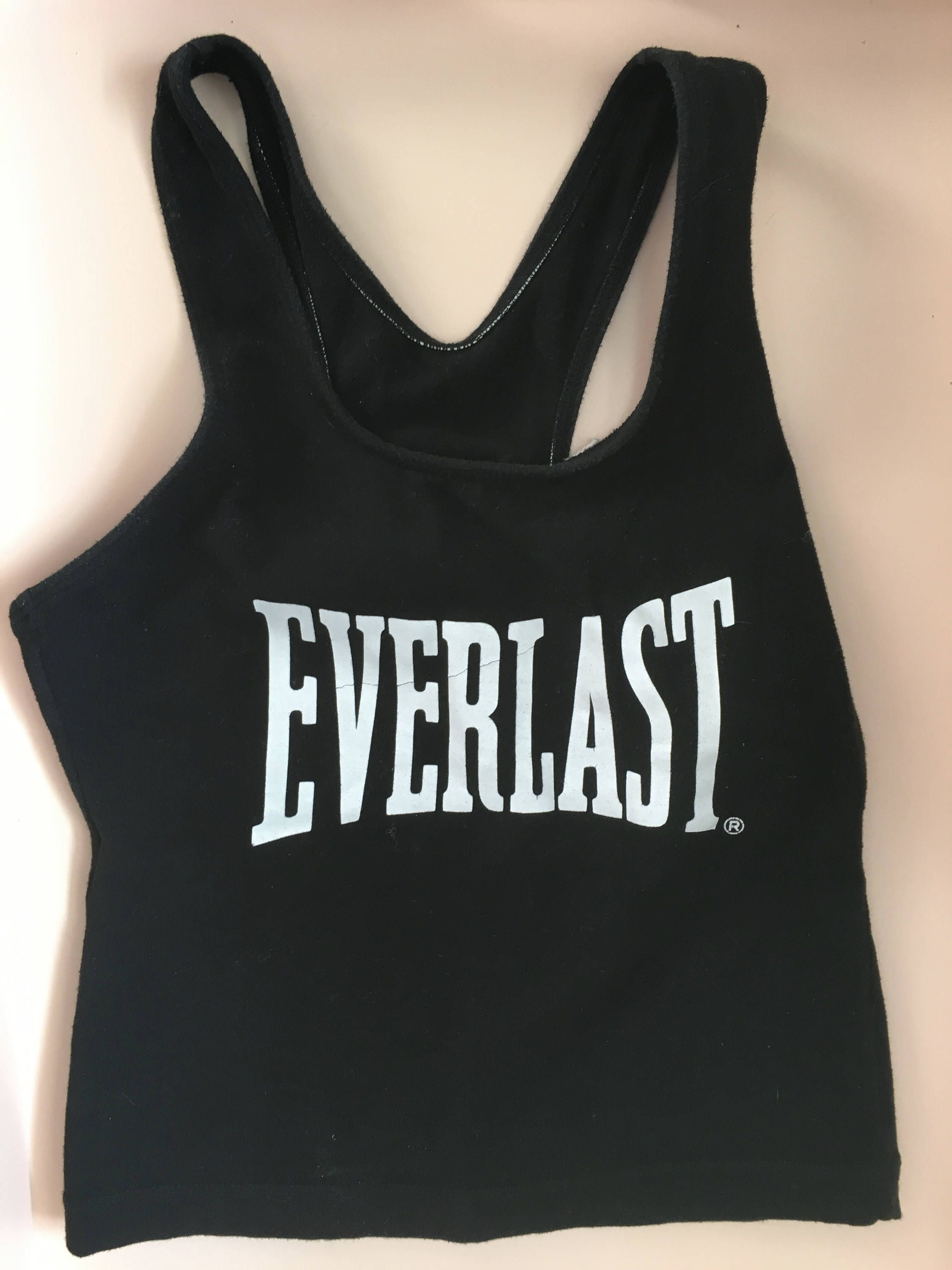 Vintage Everlast gym top - athletic wear - sports top - Women s gym  clothing - boxing brand - athletic apparel - cropped racerback tank top by  ... 7ec5aa99bba6