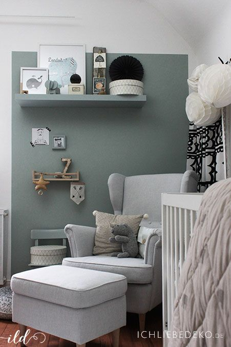 trendfarbe salbeigr n im babyzimmer jetzt kommt farbe an die wand kinderzimmer pinterest. Black Bedroom Furniture Sets. Home Design Ideas