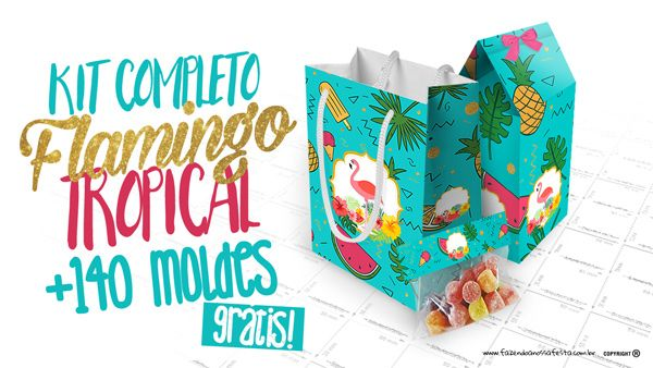 Flamingo Tropical Kit Festa Gratis Para Imprimir Em Casa Kit