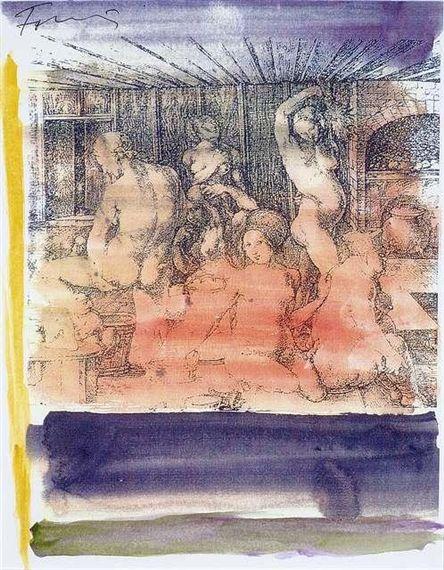 Günther Förg I Poster Bild Kunstdruck mit Alu Rahmen in schwarz 40x30cm