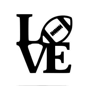 Download Football Love.svg - Box   Cricut, Cricut vinyl, Silhouette ...