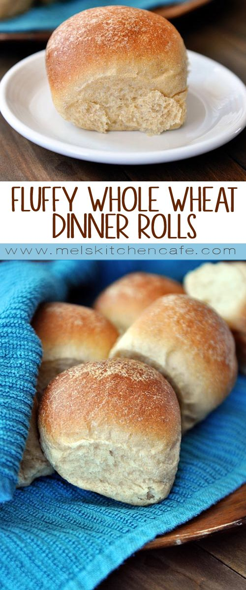 Whole wheat rolls don't have to be dense and built-like-a-brick. Promise.  These fluffy 100% whole wheat dinner rolls are as light and scrumptious as  rolls ...