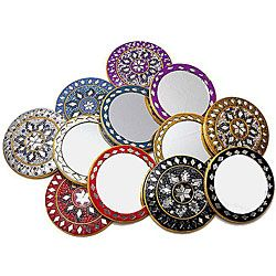handcrafted in india, set of 12 purse mirrors