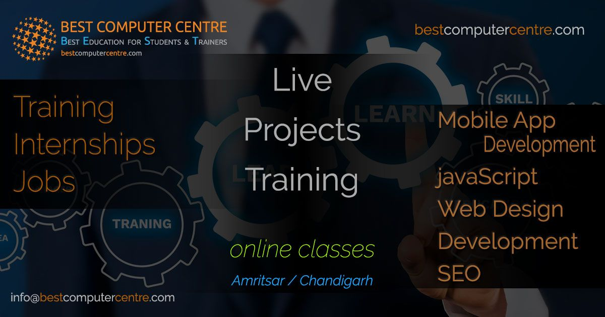 Best Computer Training Institute In Amritsar In 2020 App Development Course Online Graphic Design Course Web Design Training