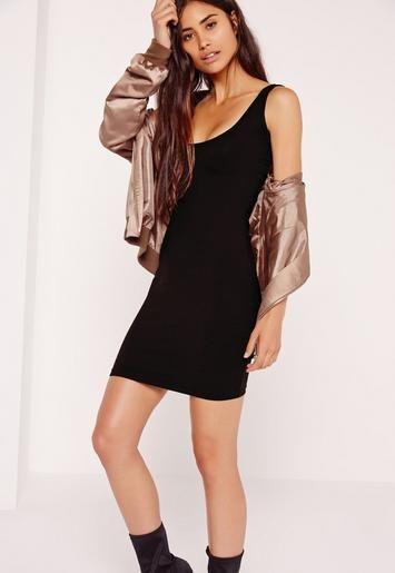 Robe courte moulante noire décolleté carré - Missguided   Robe sexy ... 0cb88679c0a4